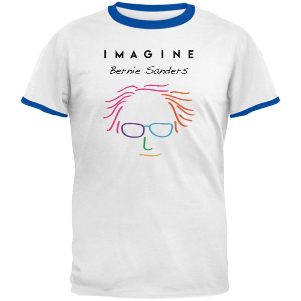 Election 2016 Bernie Sanders Imagine White-Royal Men's Ringer T-Shirt