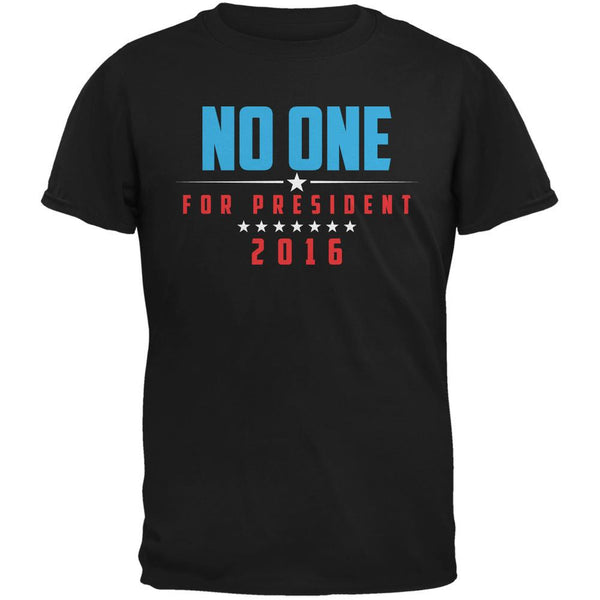 Election 2016 No One For President Black Adult T-Shirt