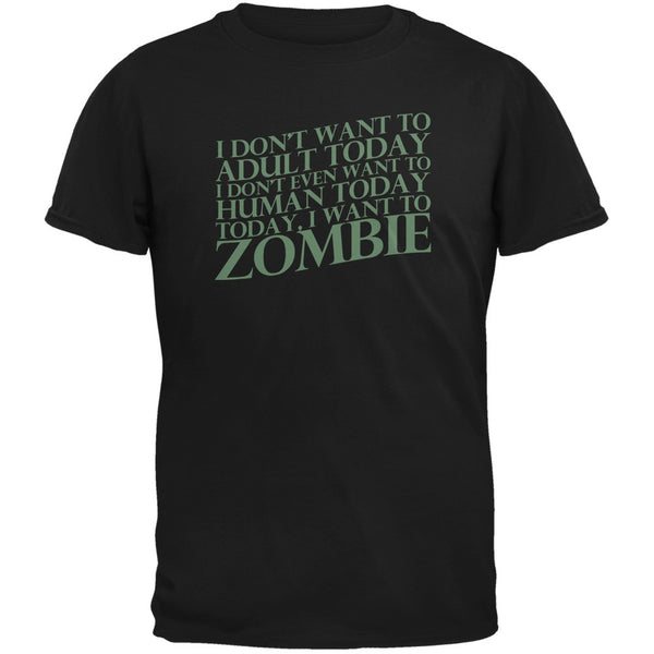 Halloween Don't Adult Today Just Zombie Black Youth T-Shirt
