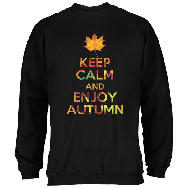 Keep Calm Enjoy Autumn Fall Black Adult Sweatshirt
