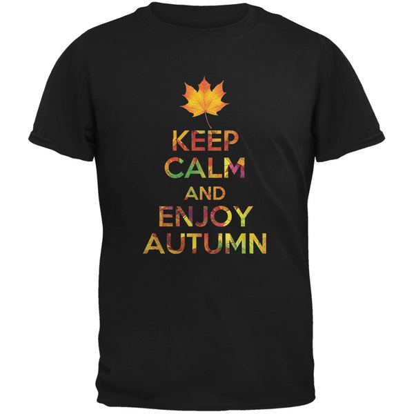 Keep Calm Enjoy Autumn Fall Black Youth T-Shirt