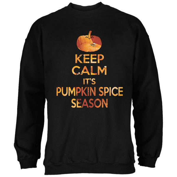 Keep Calm It's Pumpkin Spice Season Black Adult Sweatshirt