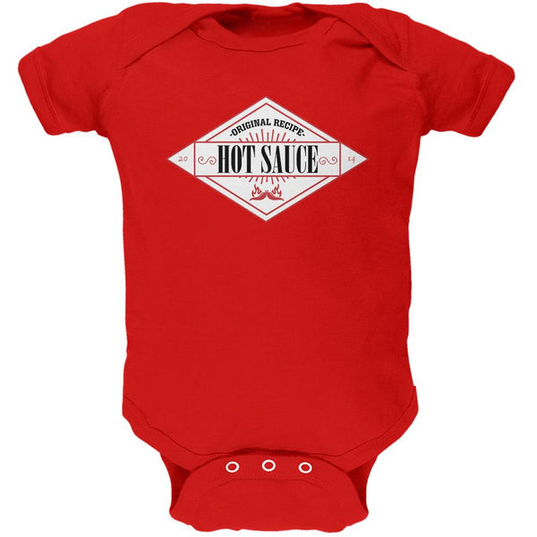 Halloween Hot Sauce Costume Red Soft Baby One Piece