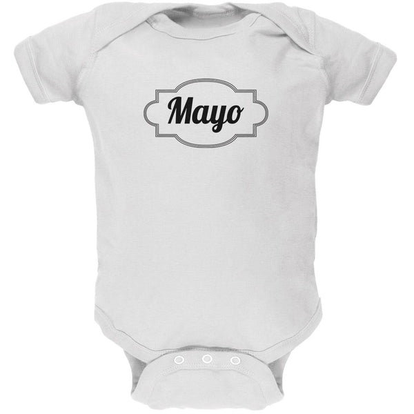 Halloween Mayonnaise Costume White Soft Baby One Piece