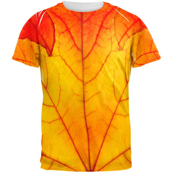 Halloween Autumn Fall Leaf Costume All Over Adult T-Shirt