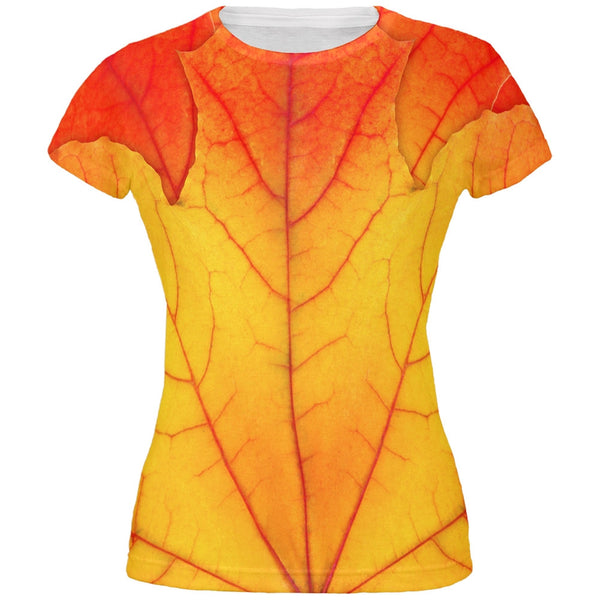 Halloween Autumn Fall Leaf Costume All Over Juniors T-Shirt