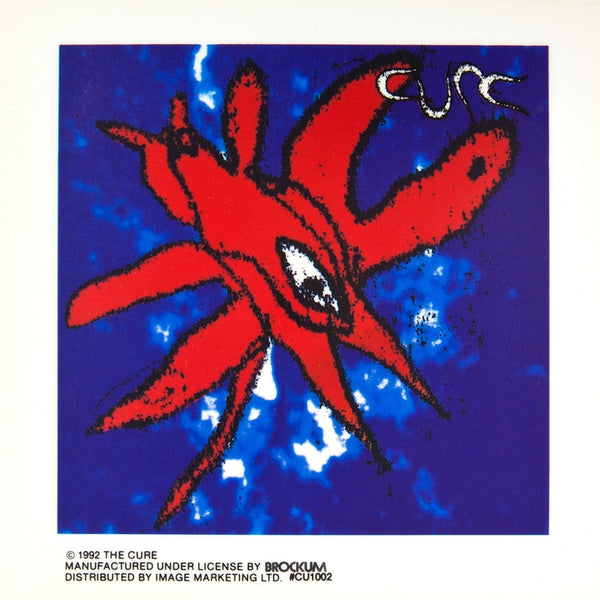 Cure - Eye Blue & Red Cling-On Sticker