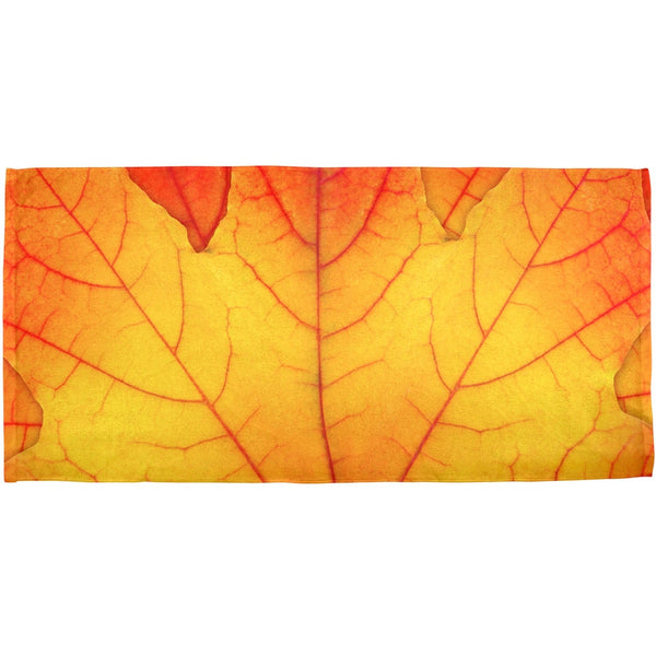 Autumn Fall Leaf All Over Bath Towel