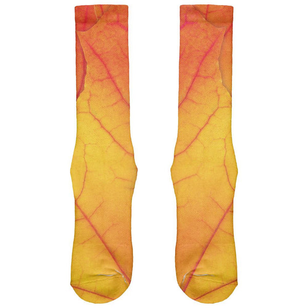 Autumn Fall Leaf All Over Crew Socks