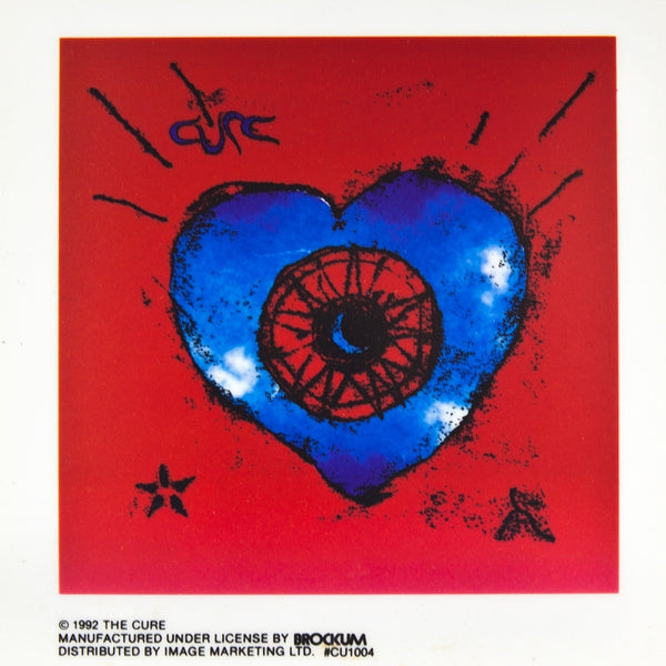 Cure - Heart Cling-On Sticker