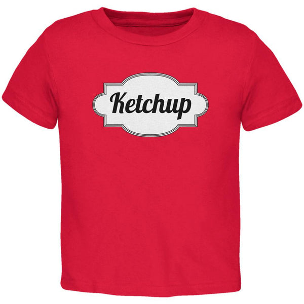 Halloween Ketchup Costume Red Toddler T-Shirt