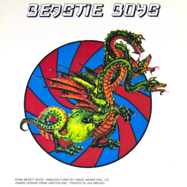 Beastie Boys - 3 Headed Dragon - Cling On Sticker