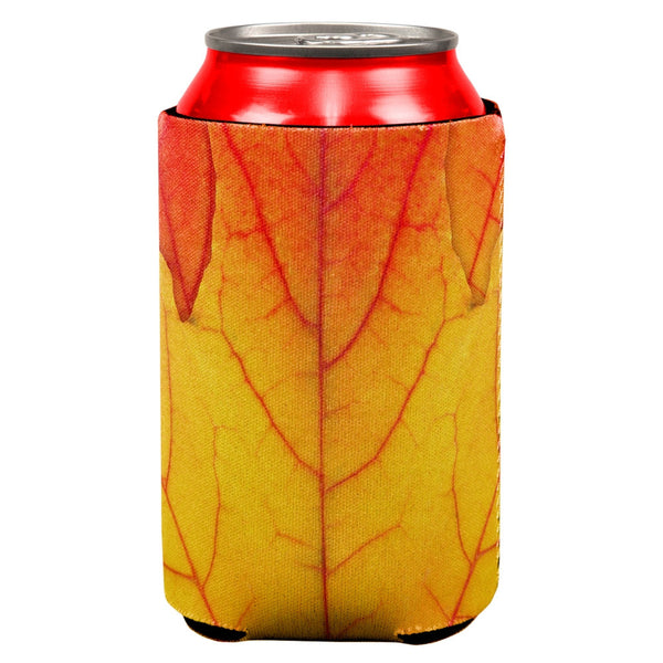 Autumn Fall Leaf All Over Can Cooler