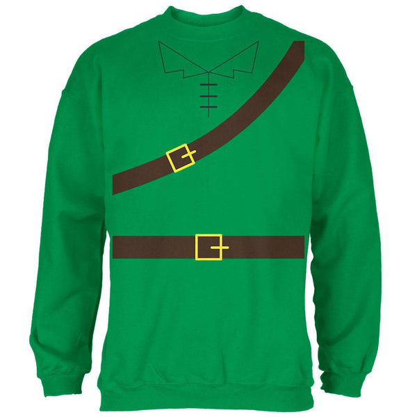Halloween Robin Hood Costume Irish Green Adult Sweatshirt