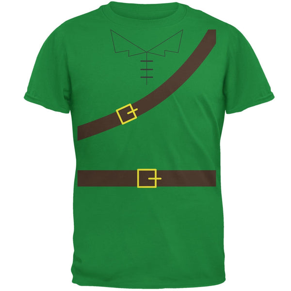Halloween Robin Hood Costume Irish Green Adult T-Shirt