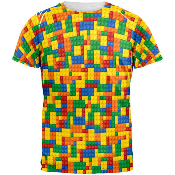 Halloween Building Blocks Costume All Over Adult T-Shirt