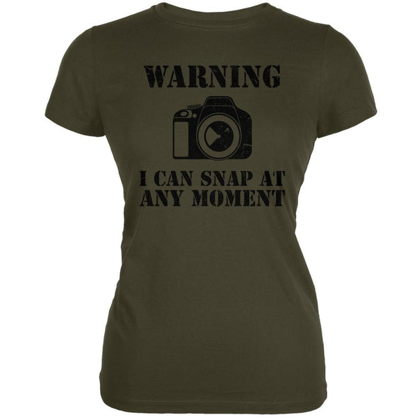 Photographer Snap At Any Moment Army Juniors Soft T-Shirt