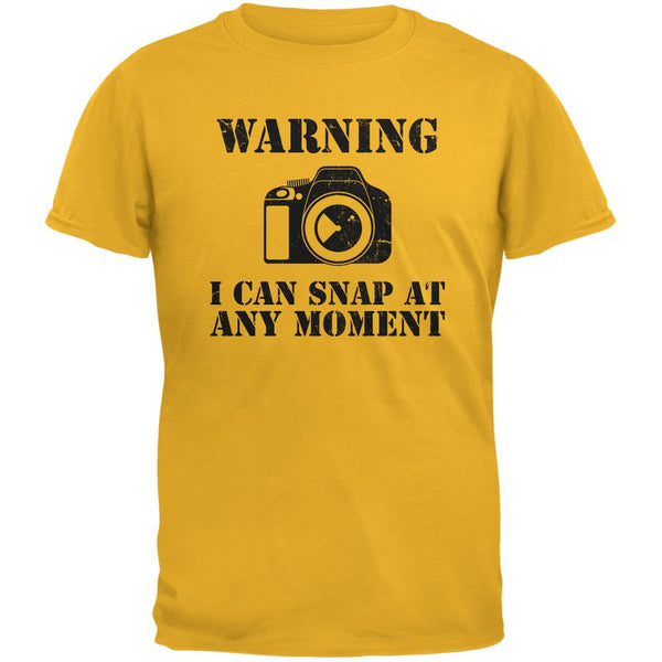 Photographer Snap At Any Moment Gold Adult T-Shirt