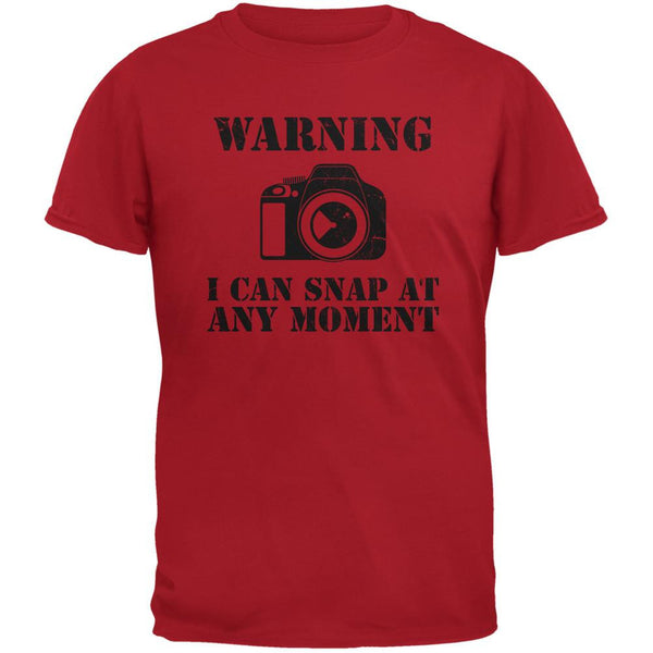 Photographer Snap At Any Moment Red Adult T-Shirt
