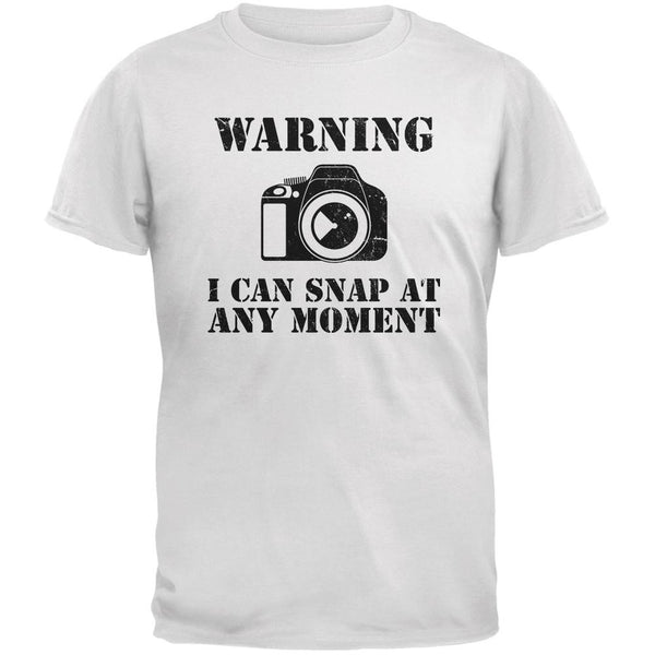 Photographer Snap At Any Moment White Adult T-Shirt