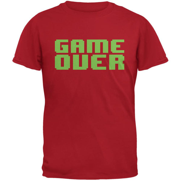 8 Bit Game Over Red Adult T-Shirt