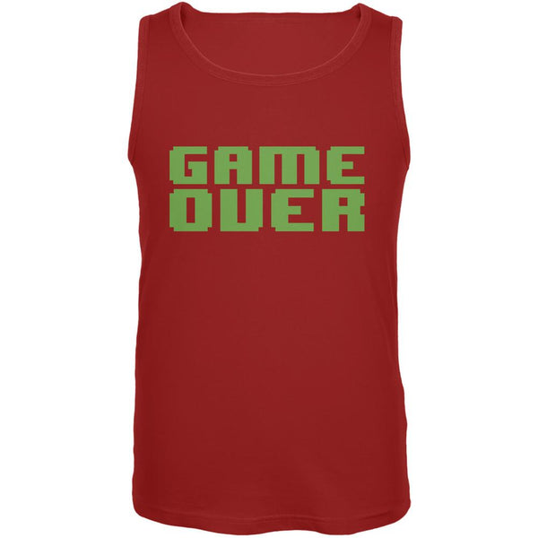 8 Bit Game Over Red Adult Tank Top