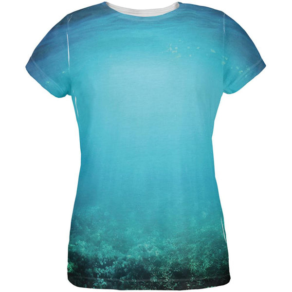 Under Sea Water All Over Womens T-Shirt
