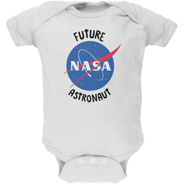 Future NASA Space Astronaut White Soft Baby One Piece