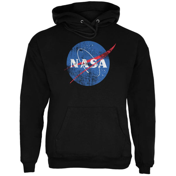 NASA Distressed Logo Black Adult Hoodie