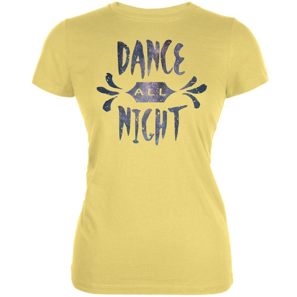 Dance All Night Yellow Juniors Soft T-Shirt