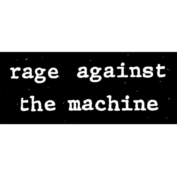 Rage Against The Machine - Black & White Logo Decal
