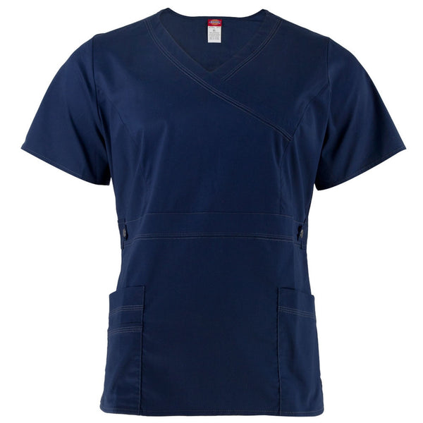 Navy Blue V-Neck Unisex Scrub Top
