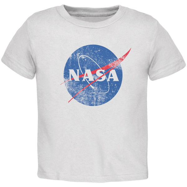 NASA Distressed Logo White Toddler T-Shirt