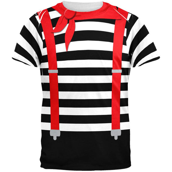 Halloween French Mime Costume All Over Adult T-Shirt