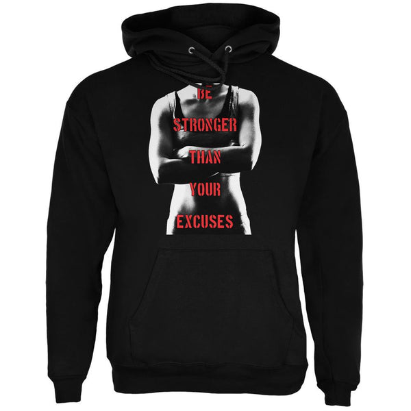 Crossfit Stronger than Your Excuses Black Adult Hoodie