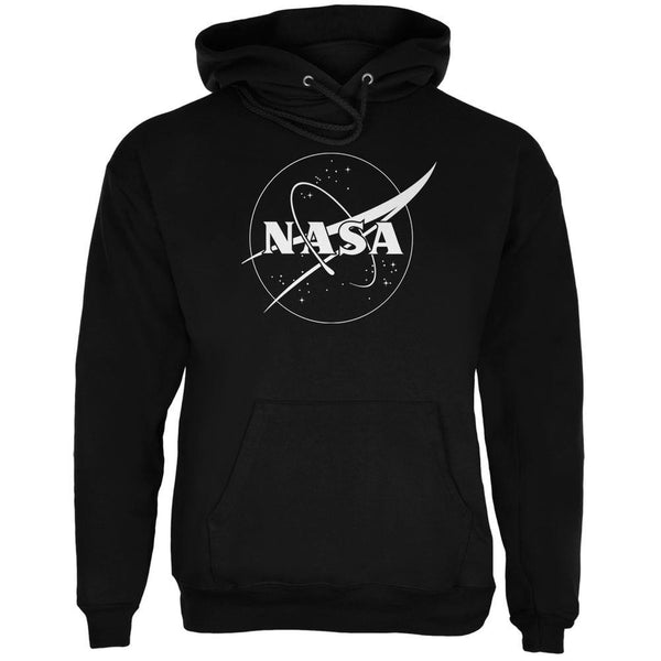 NASA Outline Logo Black Adult Hoodie