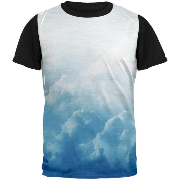 Clouds Adult Black Back T-Shirt