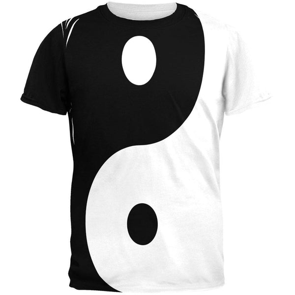 Yin Yang All Over Adult T-Shirt