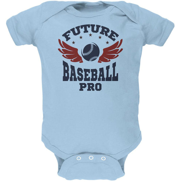 Future Baseball Pro Light Blue Soft Baby One Piece