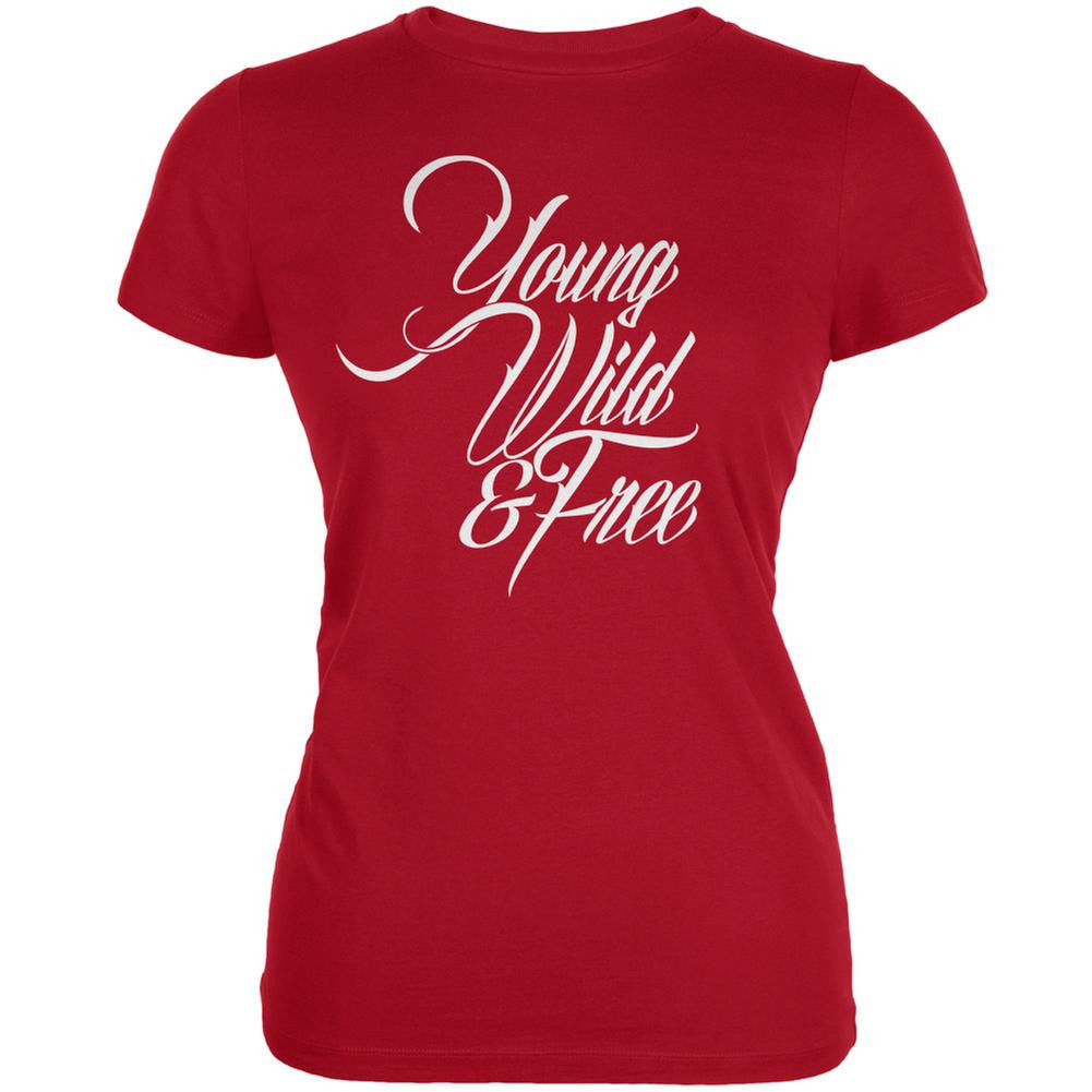 Young Wild & Free Red Juniors Soft T-Shirt