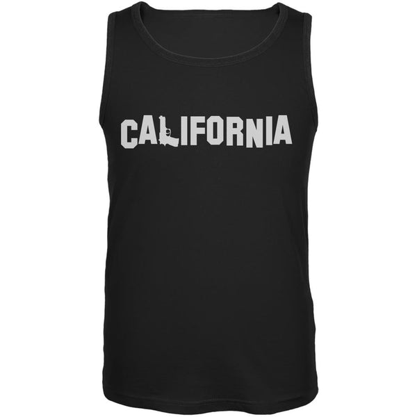 California Pistol Black Adult Tank Top