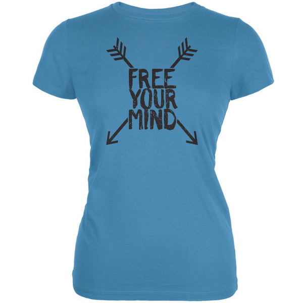 Free Your Mind Aqua Juniors Soft T-Shirt