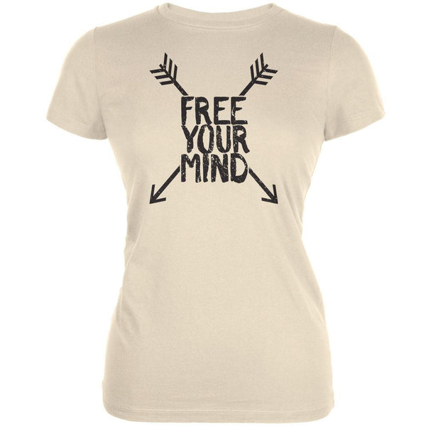 Free Your Mind Cream Juniors Soft T-Shirt
