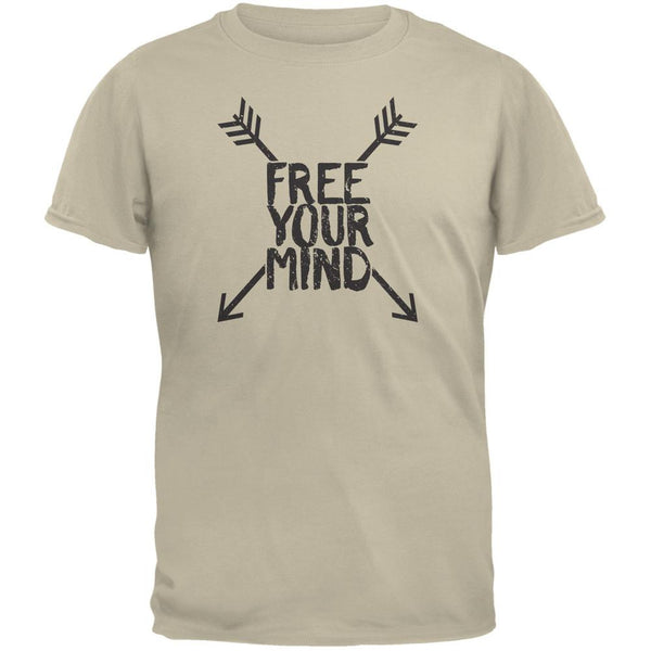 Free Your Mind Sand Adult T-Shirt