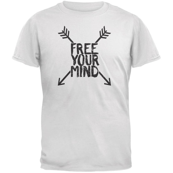 Free Your Mind White Adult T-Shirt