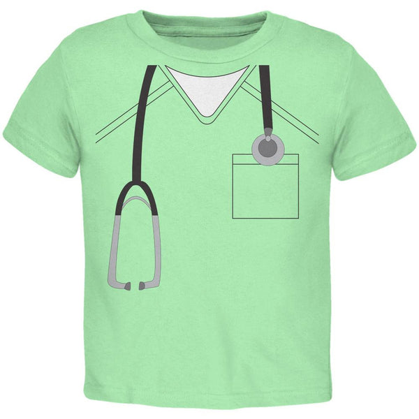 Halloween Doctor Scrubs Costume Mint Green Toddler T-Shirt
