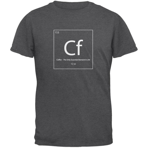 Coffee Periodic Table Dark Heather Adult T-Shirt
