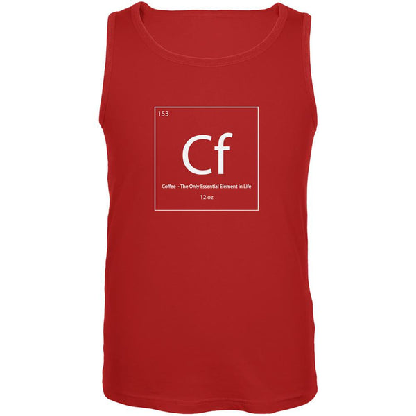 Coffee Periodic Table Red Adult Tank Top