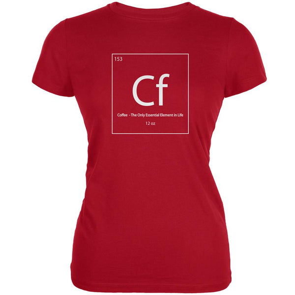 Coffee Periodic Table Red Juniors Soft T-Shirt