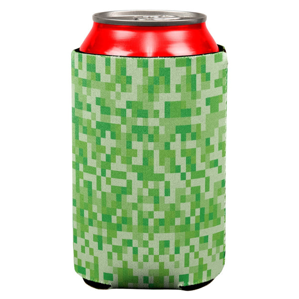 Green Pixels All Over Can Cooler